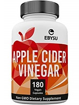 Ebsyu Nutrition Apple Cider Vinegar Capsules for Health & Well-Being
