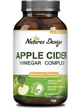 Natures Design Apple Cider Vinegar Complex for Health & Well-Being