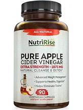 NutriRise Apple Cider Vinegar Capsules for Health & Well-Being