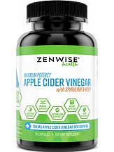 Zenwise Health Apple Cider Vinegar Capsules for Health & Well-Being
