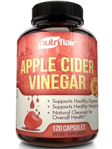 NutriFlair Apple Cider Vinegar Capsules for Health & Well-Being